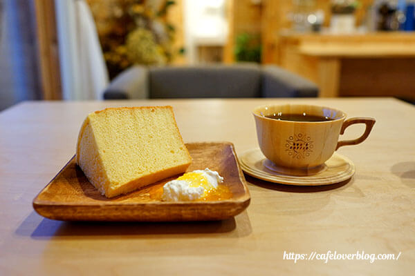 SUN'S COFFEE◇シフォンケーキ(オレンジ)&SUN'S ブレンド