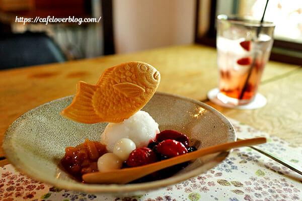 農園の手紙舎◇季節のお菓子と自家製シロップ(水割)