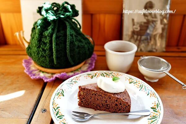 CAFE 2008◇チョコミントケーキと英国式紅茶