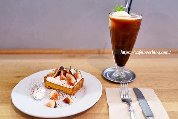 HORUTA◇いちじくとヨーグルトクリームのタルトとコーヒーフロート
