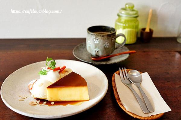 お茶とおやつ 和茶◇プリンア・ラ・モードとケニア