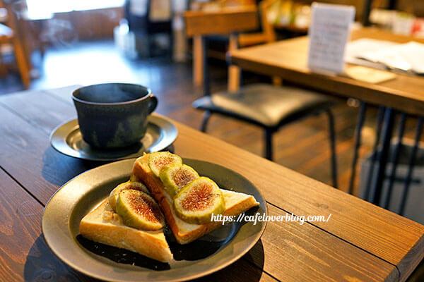 繭久里カフェ◇朝採りいちじくトーストセット