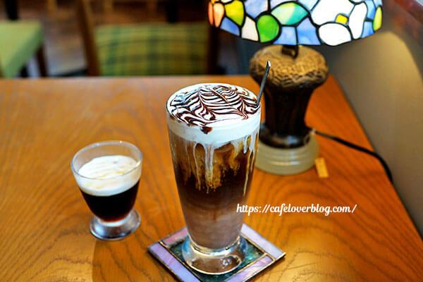 SUTTENDO COFFEE◇アイスカフェモカ / ランチセットのコーヒーゼリー