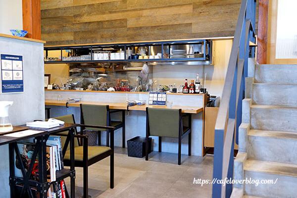 café trill◇店内(カウンター席)
