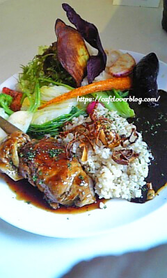 Cafe mikumari◇冬瓜のもち豚巻き オーガニックワインソースと特製黒カレー 2種の味わい 2008.11