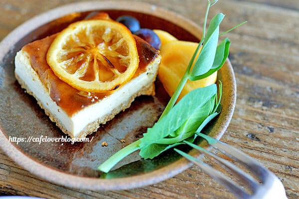 冬のRK GARDEN◇国産有機レモンのベイクドチーズケーキ