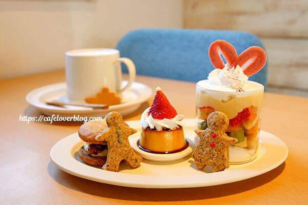 cafe uminoie◇クリスマスデザートプレート / はちみつジンジャーラテ