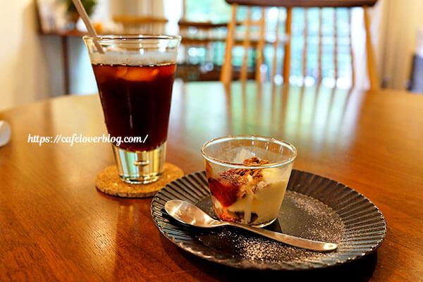 Blue Bird Cafe◇和風グラノーラのミニパフェ / アイスコーヒー