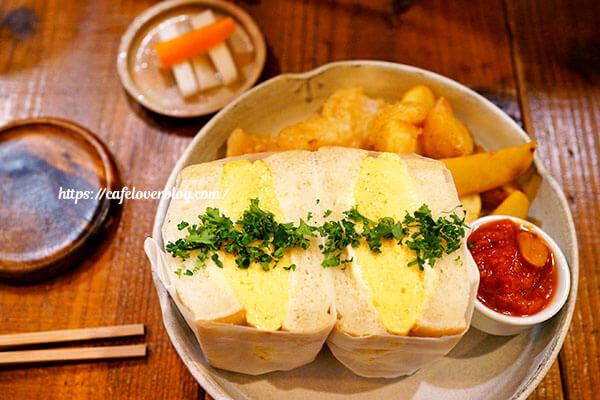 Eggcafe Amber◇出汁香るたまごサンド(特大)