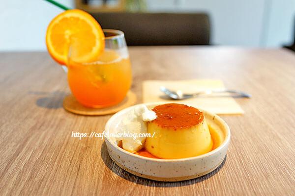 Cafe Stock35◇プリン / マンダリンアイスティー