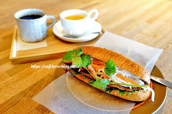 図書喫茶カンタカ◇バインミー(豚肉) / 鶴首かぼちゃのスープ / カンタカブレンド